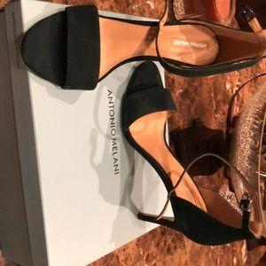 Antonio Melani deep emerald sandals